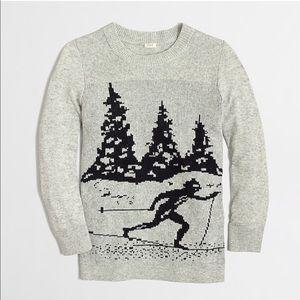 J.Crew Intarsia Apres Ski Gray Sweater Small